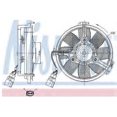 Вентилятор охлаждения двигателя Audi A4 (8E2, B6) 1.9 TDI