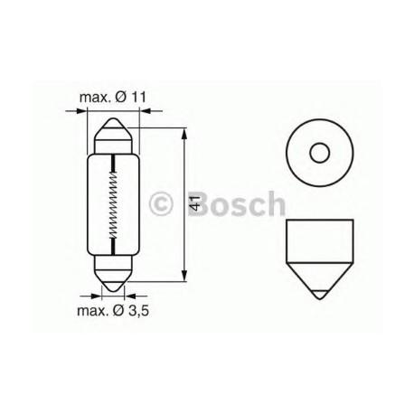 Лампа накаливания (сигнал торможения) Audi 100 (4A, C4)